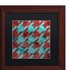 Color Bakery 'Houndstooth IV' Matted Wood Framed Art