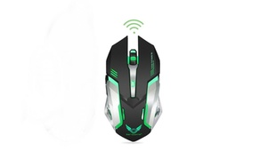 Rechargeable 2.4G Wireless Silent Mouse with 7 Breathing LED Light