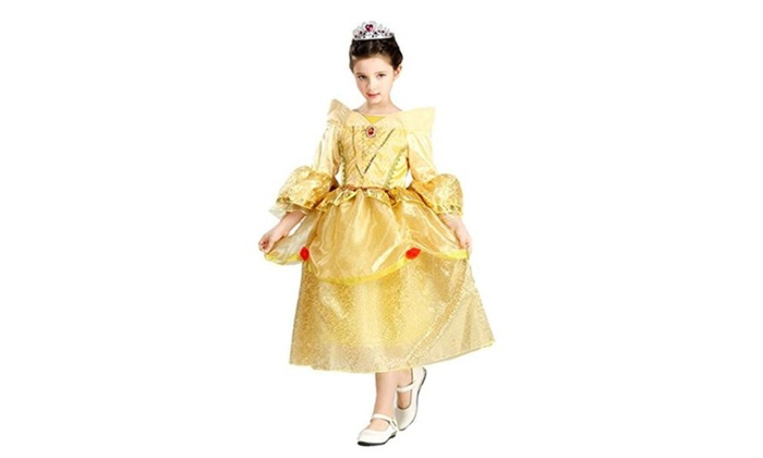 Belle Princess Dress Costume Halloween Party Cosplay Dress