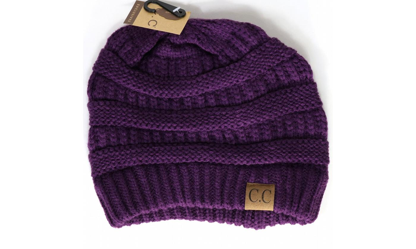 Crane Clothing Co. Women's Solid Classic CC Beanie
