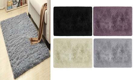 Anti-Skid Floor Mat Fluffy Rugs Shaggy Area Rug Home Dining Room Bedroom Carpet