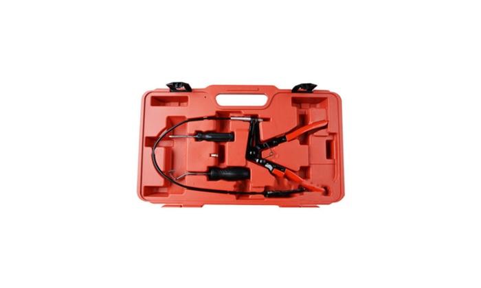 super Auto Tools Wire Long Reach Clamp Pliers Set Fuel Water Hose 9pcs