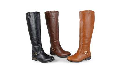 bb2a7dc68fa Shop Groupon Journee Collection Womens Ankle-Strap Square-Buckle Riding  Boots