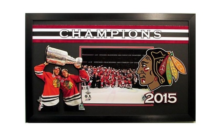 Chicago Blackhawks 2015 Stanley Cup Champions 3D Framed Display bbebe0f3-8dcd-4bbc-a0f2-0f7a6f0b9710