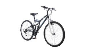 "GhostMen's 26"" Full-Suspension MTB Bicycle"