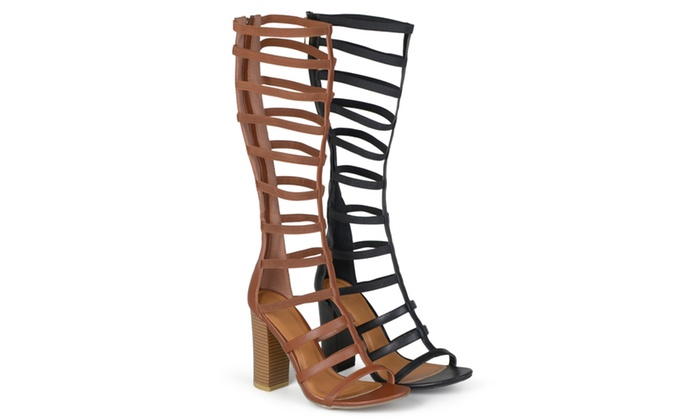 Journee Collection Womens  Heeled Gladiator Sandals