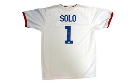 Autographed Hope Solo Team USA White Custom Jersey 59da7dae-d861-4e13-923c-bcfa60effe79