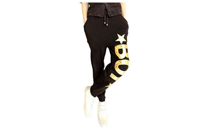 JINMIG Mens Fashion Hip-hop Dancing Trousers Youth Harem Casual Pants