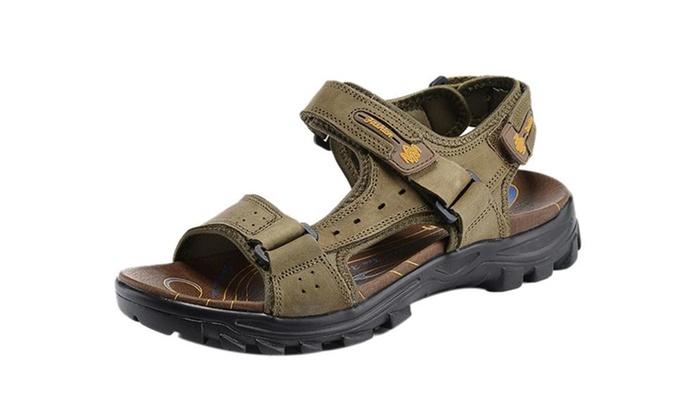 Men's Outdoor Adjustable Velcro Strap Summer Gladiator Sandals