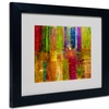 Michelle Calkins 'Color Abstract' Matted Black Framed Art