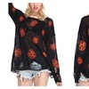 Women Pumpkin Long Sleeve Knitted Pullover Sweater