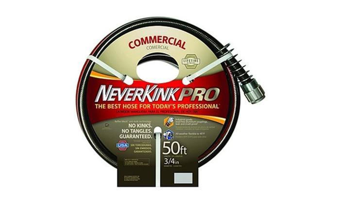 Neverkink Commercial Duty Pro Garden Hose, 3/4 Inch By 50 Feet ...