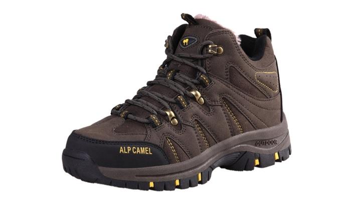Men's Warm Fur Liner Hiking Shoes