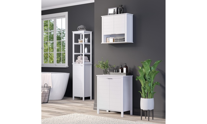 Miraculous Madison Collection 2 Door Floor Cabinet White Groupon Home Interior And Landscaping Ologienasavecom