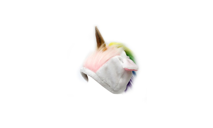 68438cd611f Unicorn Cold Weather Hat for Adults Unicorn Cold Weather Hat for Adults ...