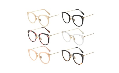 Retro Fashion Unisex Metal Full Glasses Round Frame Flat Eyeglasses da532a6d-641a-43c9-9178-29089601f691