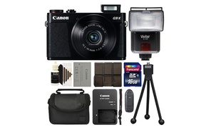 Canon PowerShot G9 X II 20.2MP Digital Camera Camera or with Bundle at The Teds Store, plus 6.0% Cash Back from Ebates.