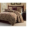 Bed in a Bag 2600 Luxury 11 Piece Galloway Burgundy & Gold Comforter Set