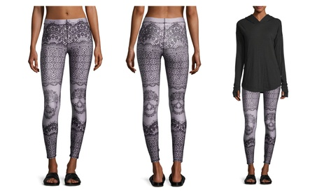 Terez Women's Skull Lace Printed Performance Leggings Activewear 9ee2ff8d-63cd-442d-a84f-2c9e433c0e01
