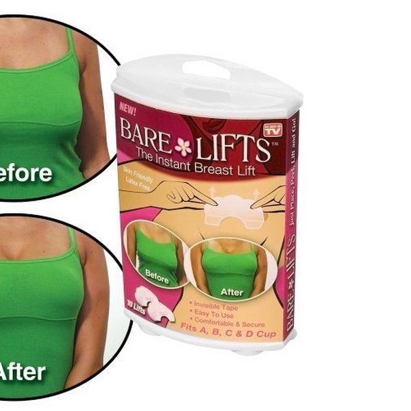 New Instant Bare Lift 5 Pairs Breast Lifts Tapes /& 5 Pairs Nipple Covers