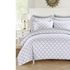 Deacon 3 or 2 Piece Reversible Duvet Cover Set - Zipper Closure Bedding