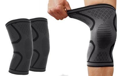 Elastic Fastener Sport Knee Brace Support Kneecap Stabilizer Compression Sleeve