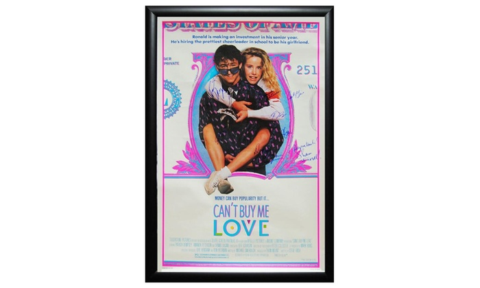 Cant Buy Me Love Signed Movie Poster In Wood Frame Groupon