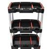 "Luxor 3 Shelf Industrial Tool Storage Mechanics Cart with 3"" Casters"