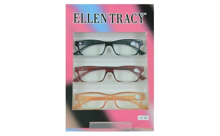 Ellen Tracy 3 Pairs Premium Reading Glasses Red Orange Readers c9b227f3-31b0-4afe-8a39-557b140ce0b6