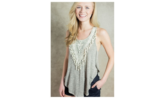 Women Summer Crochet Irregular Hem Soft Cotton Tank Vest – JPWSB746