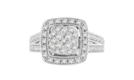 10K White Gold 1 CTTW Round Cut Diamond Ring (I-J,I1-I2) fe2fb6fe-b7e5-4950-bd6b-17901f2f8456