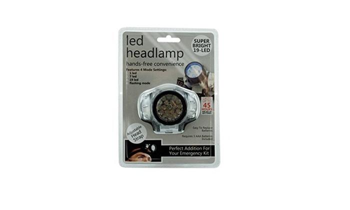 19 LED Headlamp w/ 4 Mode Settings, Super Bright Headlight