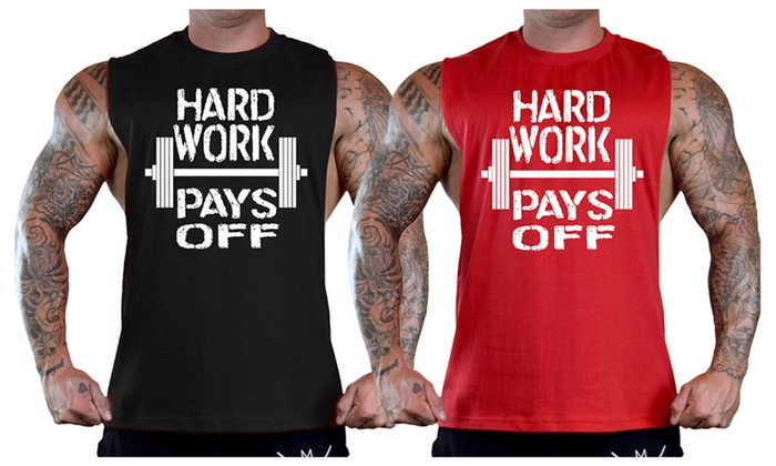 Men's Hard Work Pays Off T-Shirt Tank Top