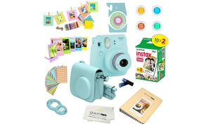 Fujifilm Instax Mini 9 Instand Camera plus 20 Pack Film plus 15 PCS Bundle