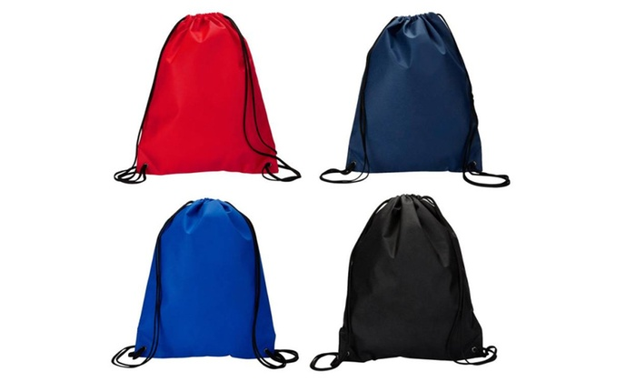 UltraClub Non Woven Contrast Black Drawstring Backpack. A136