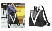 Women Purse Waterproof Leather Backpack (STYLE SOLID) photo