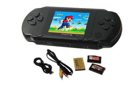 16 Bit PXP Portable Video Game Handheld Console with 2 Game Cartridges 5141fc0b-f2bc-4978-a697-33ea32e11d3b
