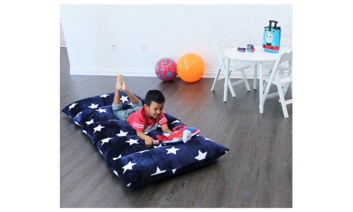 Heart to Heart Kid\'s Floor Lounger Queen Plush Fabric Seats and ...
