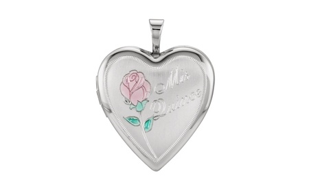 Sterling Silver 20.5x19.25 MM Mis Quince Heart Locket b6b40c8c-5706-4bac-b226-4a196e16c89b