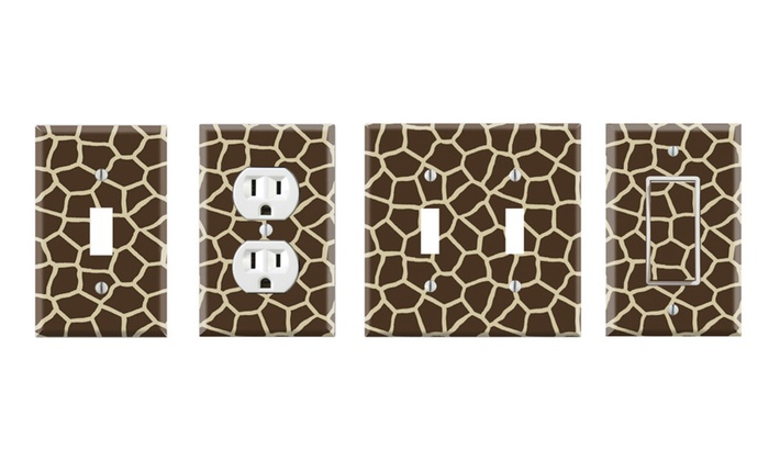 Toggle/Rocker Switch/Outlet Cover Decor Wall Plates - Giraffe Print