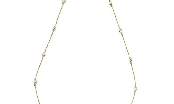 8977b88947595 Suzy Levian 14k Gold 2/5ct TDW Diamond 18-inch Necklace