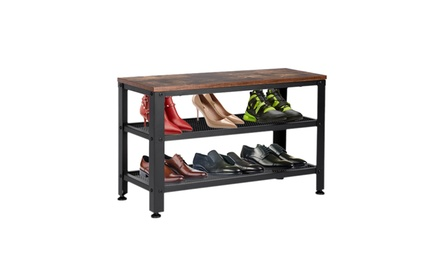 3-Tier Shoe Rack Coat Rack Storage Organizer