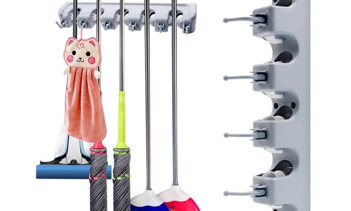 Heavy Duty Magic Broom Holder for Mop and Broom Hanging Wall