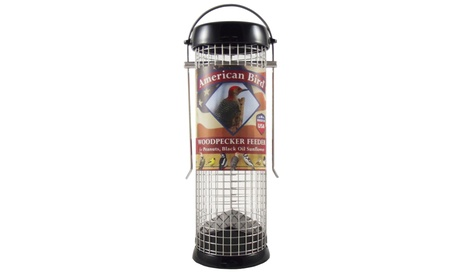 Droll Yankees DYABW9BK American Bird Woodpecker Feeder Black 9 inch (Goods For The Home Patio & Garden Bird Feeders & Food) photo