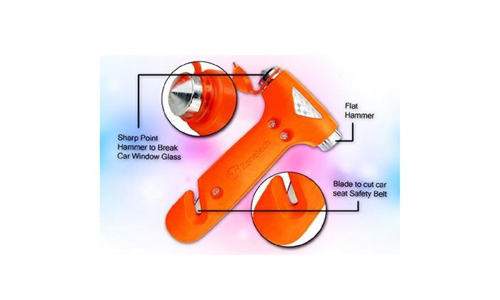 Zone Tech 2x Window Safety Auto Emergency Life-Saving Hammer Belt Cutter Tool