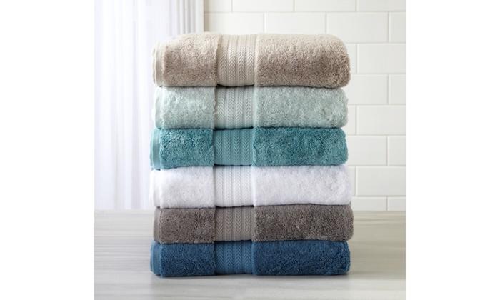 Alina Collection 100% Turkish Cotton Bath Towel Set (6-Piece ...
