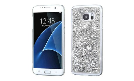 Insten Bling Diamond Hard Clear Clip on Case For Samsung Galaxy S7...