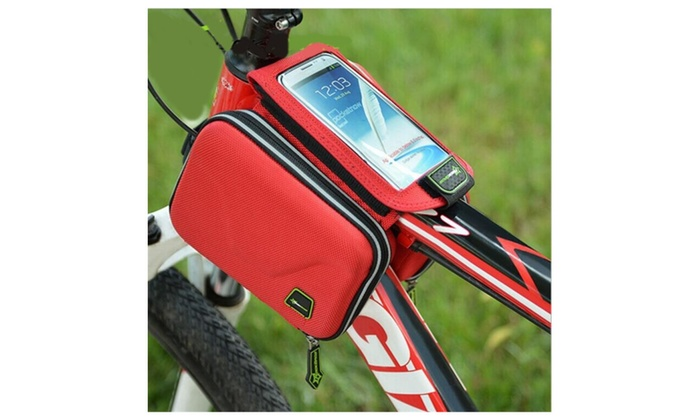 Touch Screen Mobile Phone Bicycle Front Saddle Bag