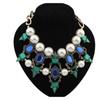 Luxury Temperament gold Chain Coarse pearl Necklace