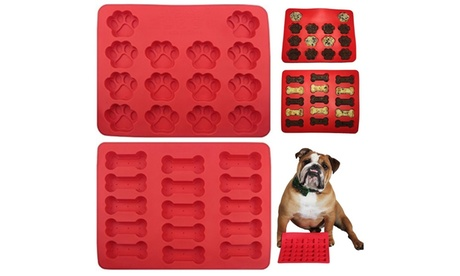 Dog Bone & Paw Silicone Trays photo